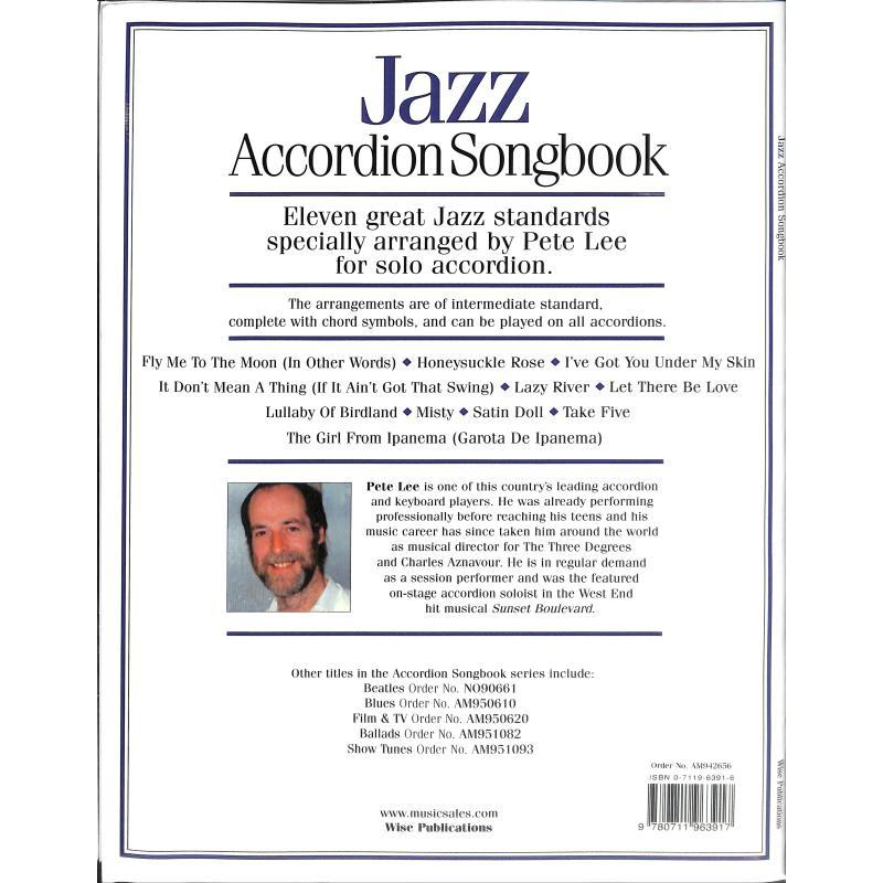 Notenbild für MSAM 942656 - JAZZ ACCORDION SONGBOOK