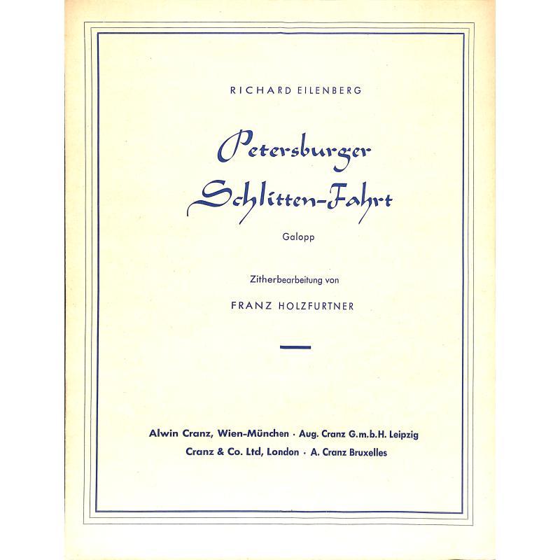 Titelbild für CRZ 60001 - PETERSBURGER SCHLITTENFAHRT OP 57