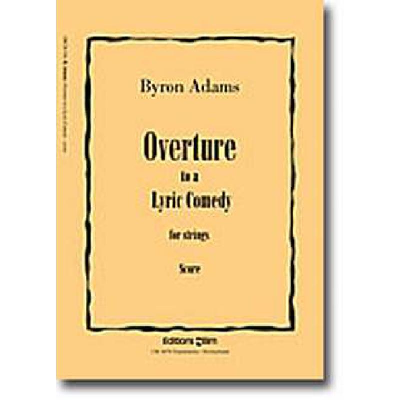 Titelbild für BIM -ORCH51B - OVERTURE TO A LYRIC COMEDY (2003)