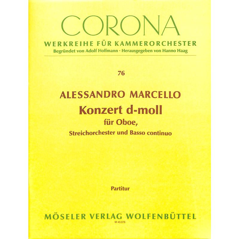 Titelbild für M 40076-00 - CONCERTO D-MOLL - OB STR BC