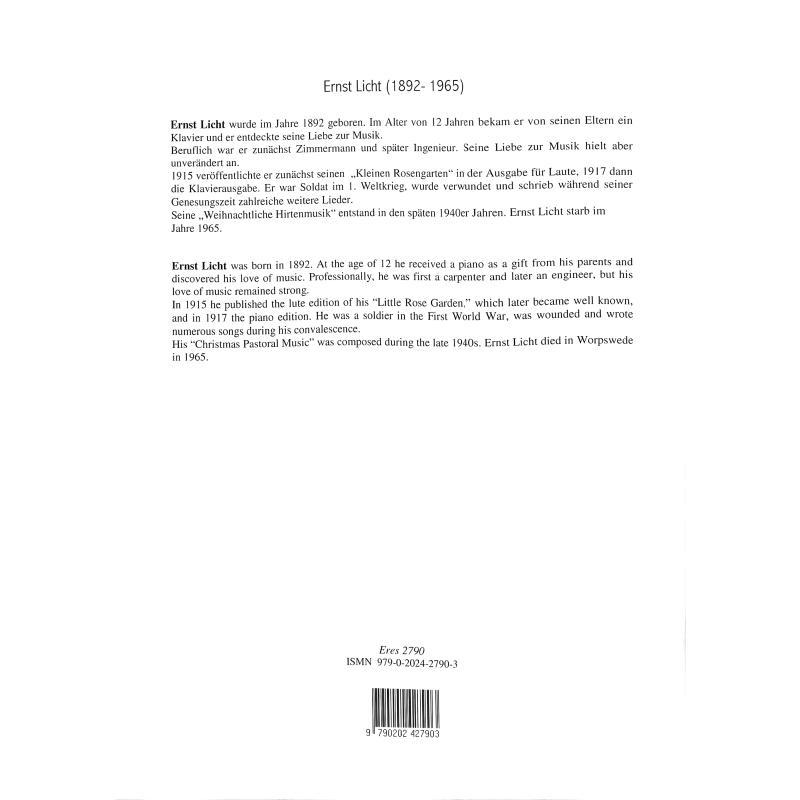 Notenbild für ERES 2790 - WEIHNACHTLICHE HIRTENMUSIK NACH MOTIVEN ALTER MEISTER