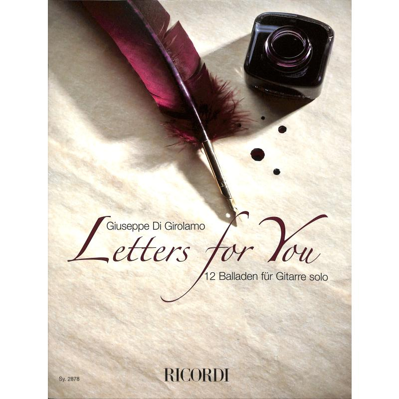 Produktinformationen zu LETTERS FOR YOU - 12 BALLADEN SY 2878