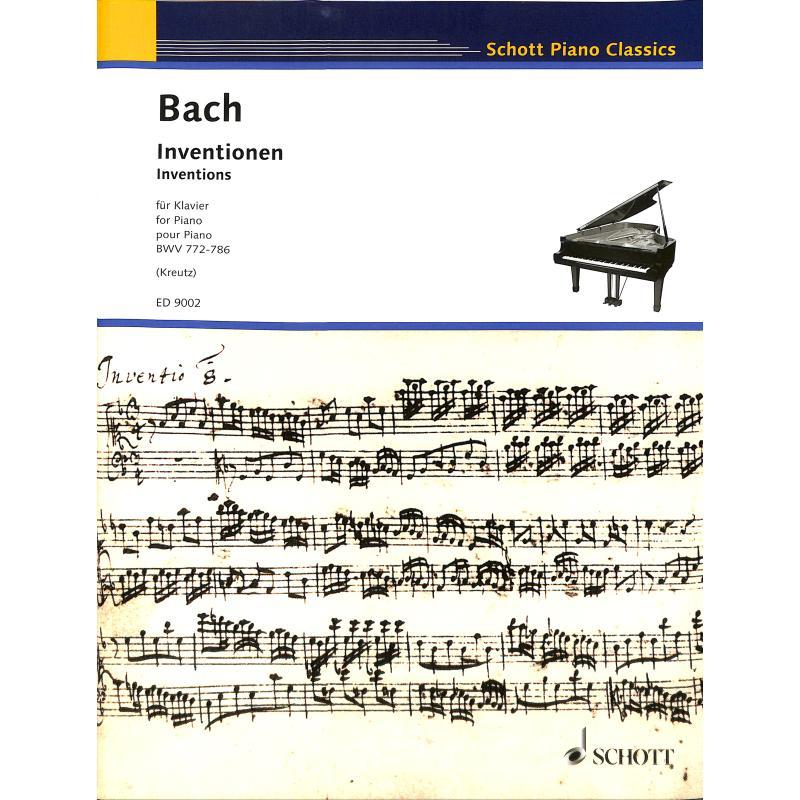 Titelbild für ED 9002 - ZWEISTIMMIGE INVENTIONEN BWV 772-786