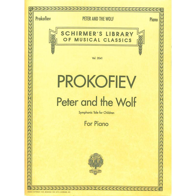 Notenbild für SIK 6899 - PETER + DER WOLF