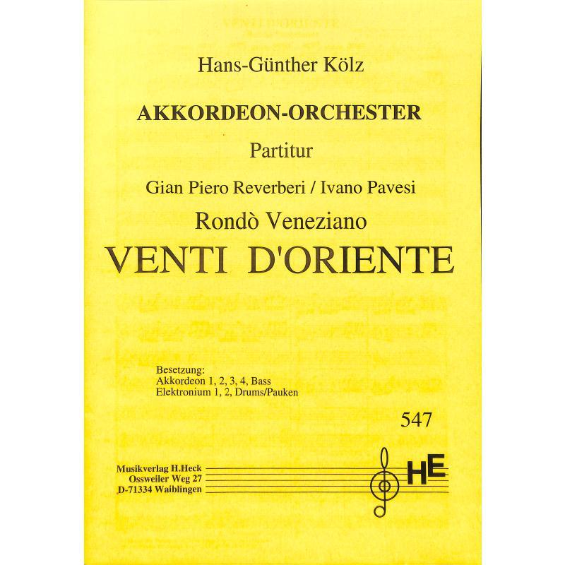 Titelbild für HECK 547-P - VENTI D'ORIENTE - RONDO VENEZIANO