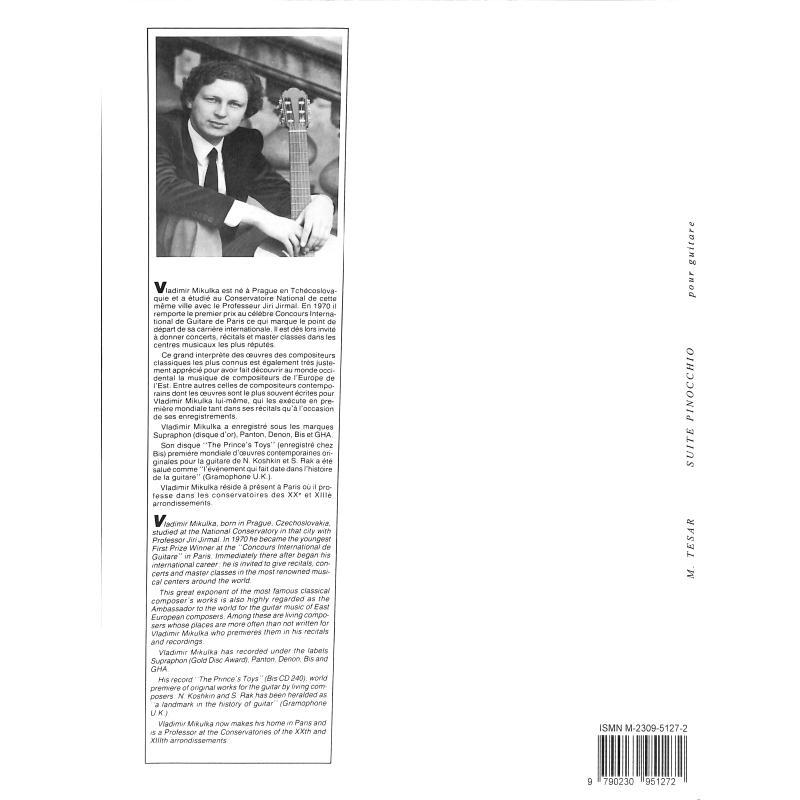 Notenbild für LEMOINE 25127 - SUITE PINOCCHIO