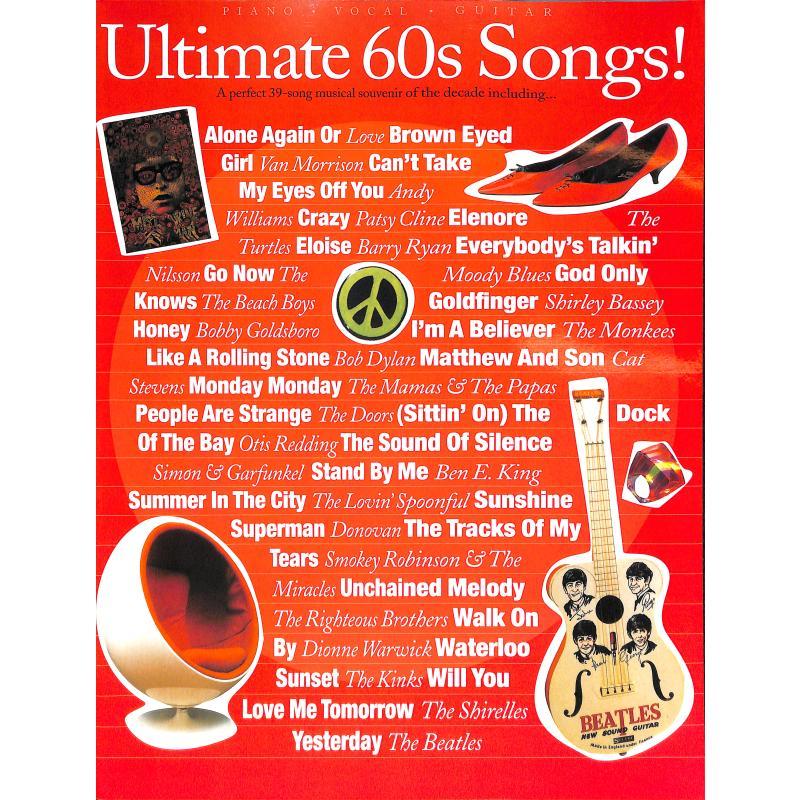 Titelbild für MSAM 971608 - ULTIMATE 60'S SONGS