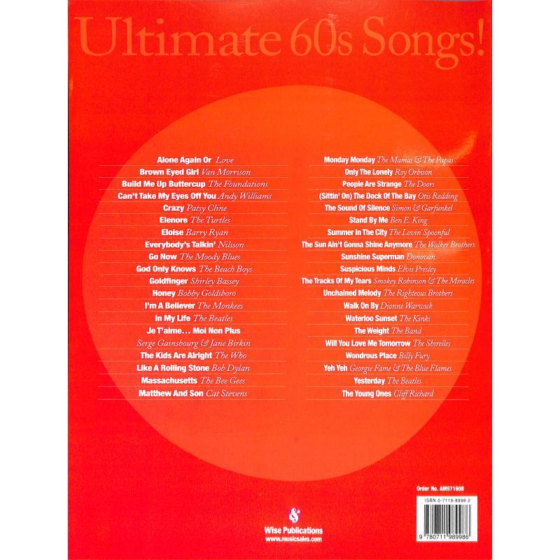 Notenbild für MSAM 971608 - ULTIMATE 60'S SONGS