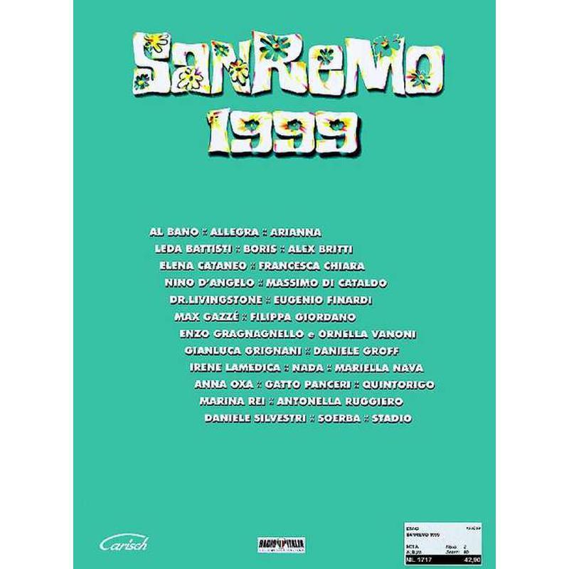 Titelbild für ML 1717 - SANREMO 1999