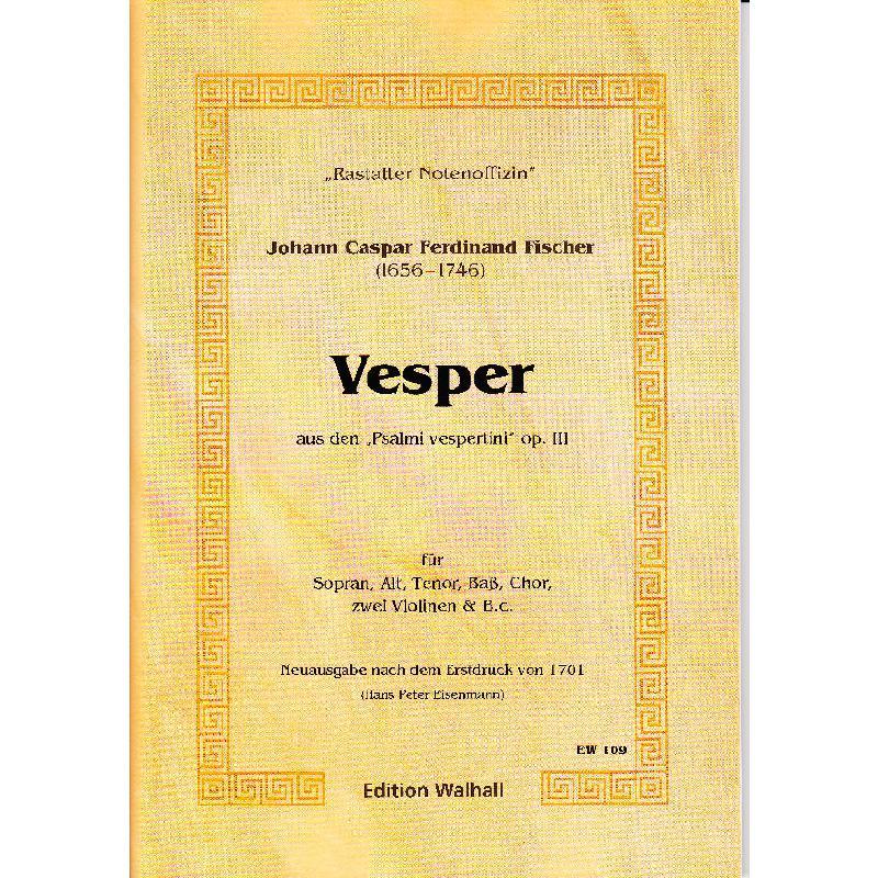 Titelbild für WALHALL 109 - VESPER OP 3 AUS PSALMI VESPERTINI