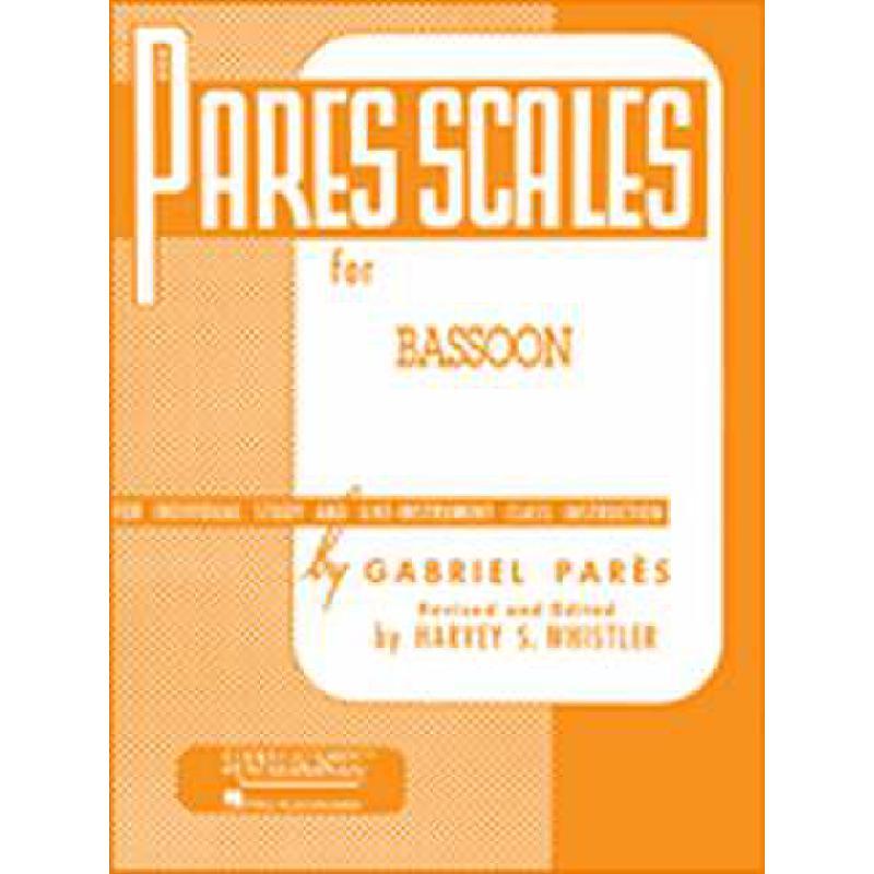 Titelbild für HL 4470520 - PARES SCALES FOR BASSON