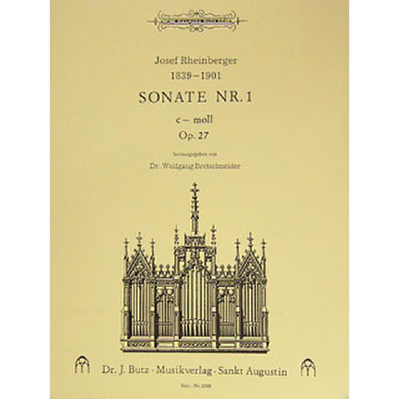 Titelbild für BUTZ 1200 - SONATE 1 C-MOLL OP 27