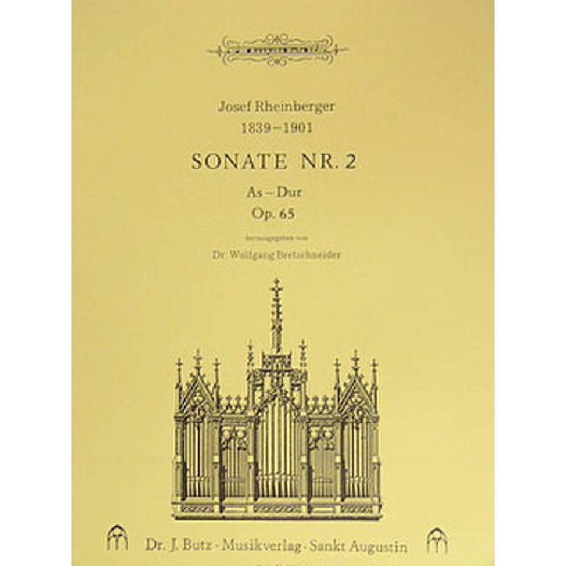 Titelbild für BUTZ 1201 - SONATE 2 AS-DUR OP 65