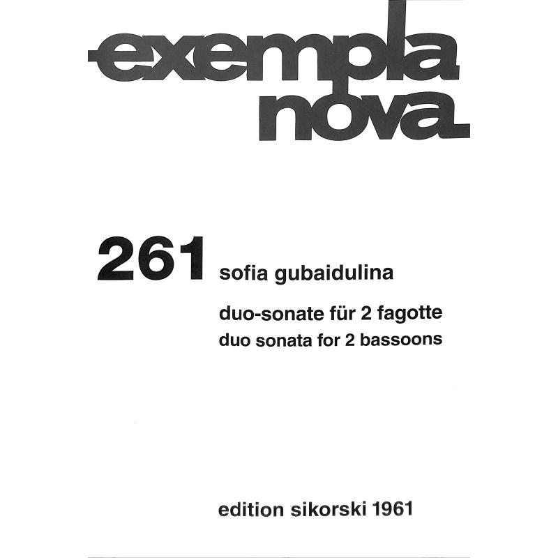Titelbild für SIK 1961 - DUO SONATE