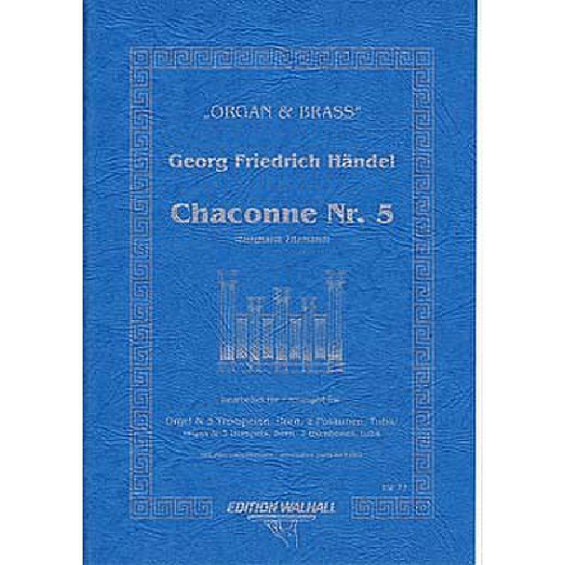 Titelbild für WALHALL 71 - CHACONNE 5 (ORIGINAL FUER KLAVIER)