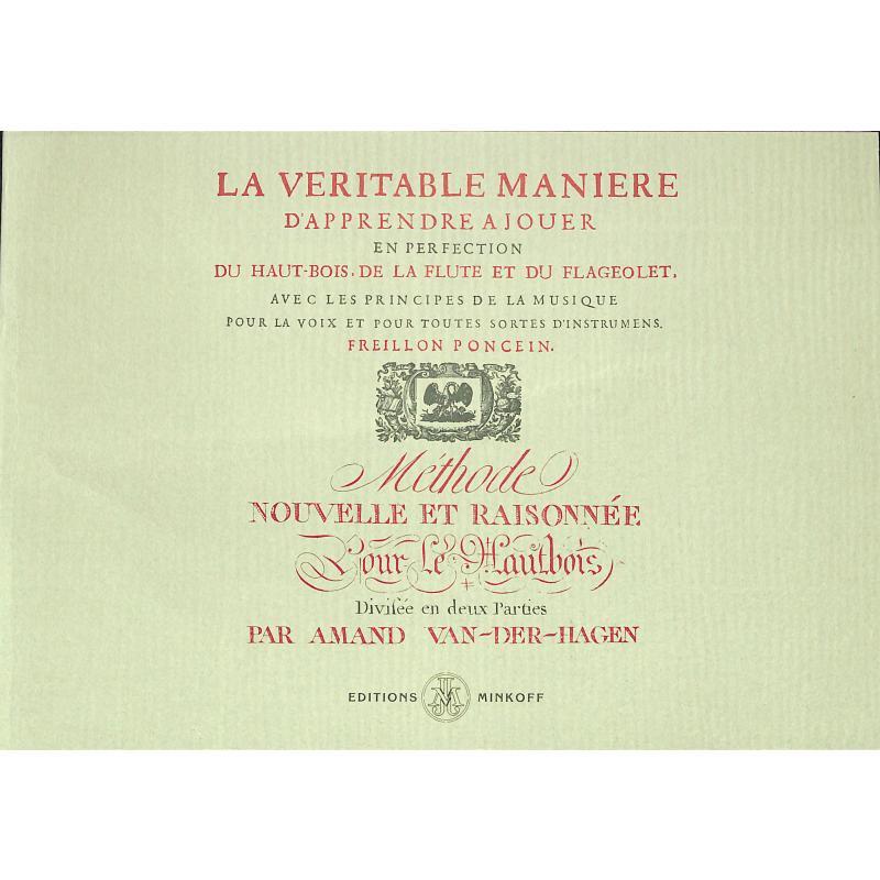 Titelbild für MINKOFF 0332-9 - METHODE NOUVELLE ET RAISONNEE POR LE HAUTBOIS