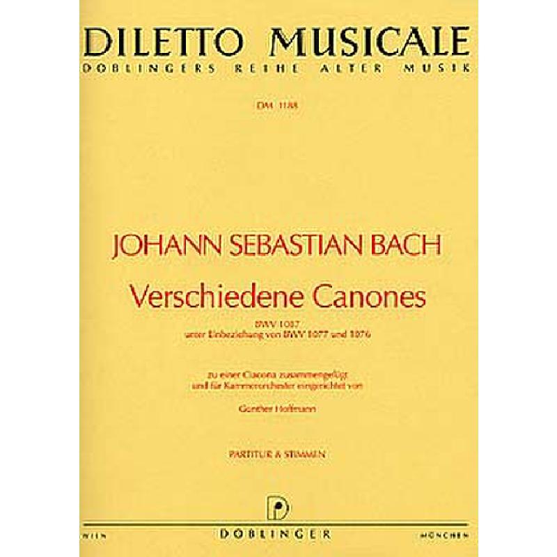 Titelbild für DM 1188 - VERSCHIEDENE KANONS BWV 1087