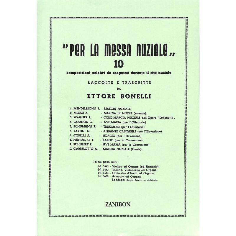 Titelbild für GZ 3442 - Per la messa nuziale