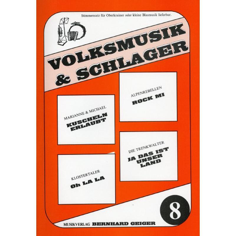 Titelbild für GEIGER -VS8 - VOLKSMUSIK + SCHLAGER 8