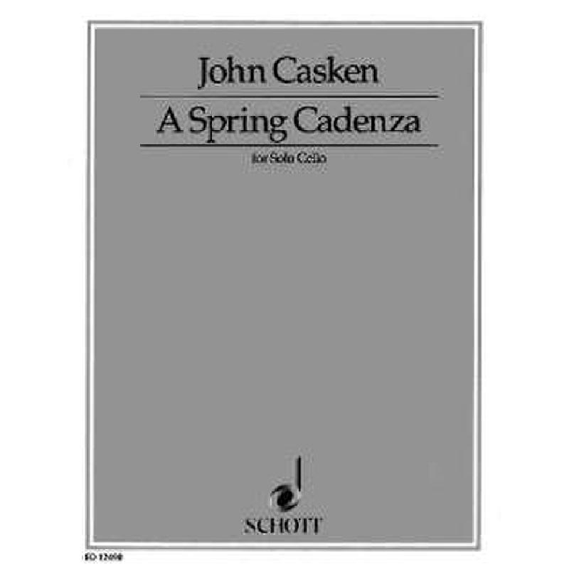 Titelbild für ED 12490 - A SPRING CADENZA FOR SOLO CELLO