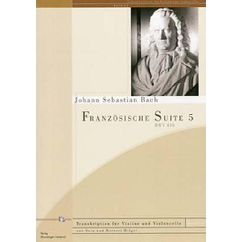 Titelbild für KAMPRAD 05-8 - FRANZOESISCHE SUITE 5 G-DUR BWV 816