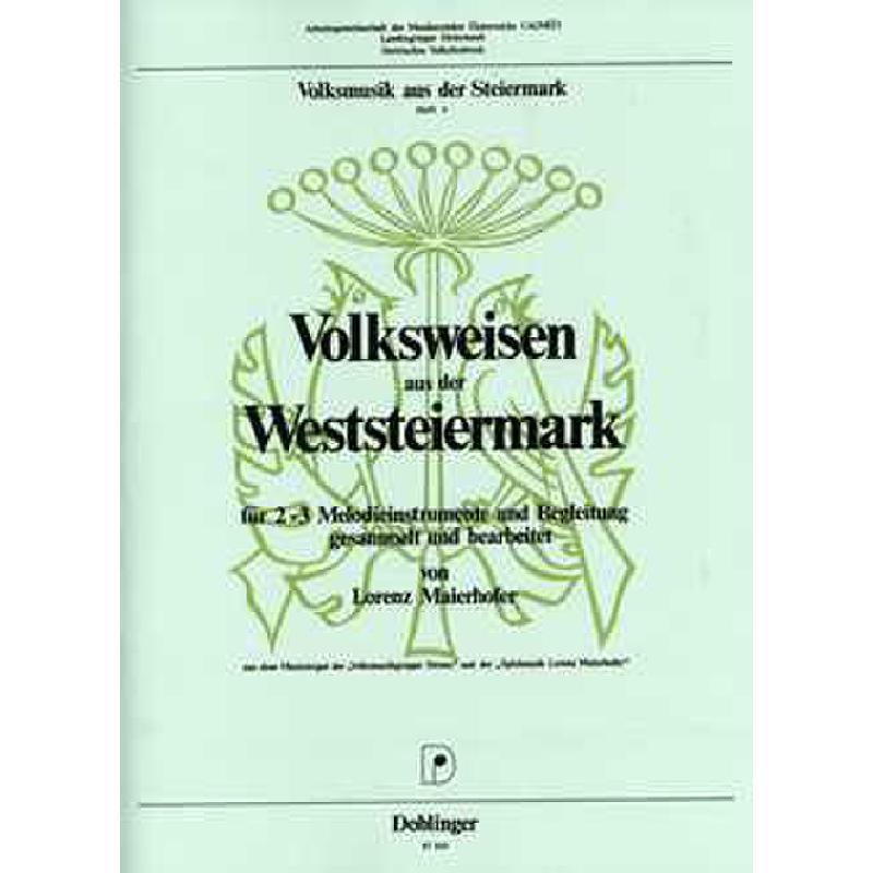 Titelbild für DO 07569 - VOLKSWEISEN AUS DER OSTSTEIERMARK