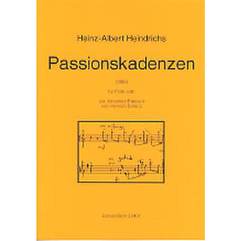 Titelbild für DOHR 27451 - PASSIONSKADENZEN (1988) ZUR JOHANNES PASSION VON SCHUETZ