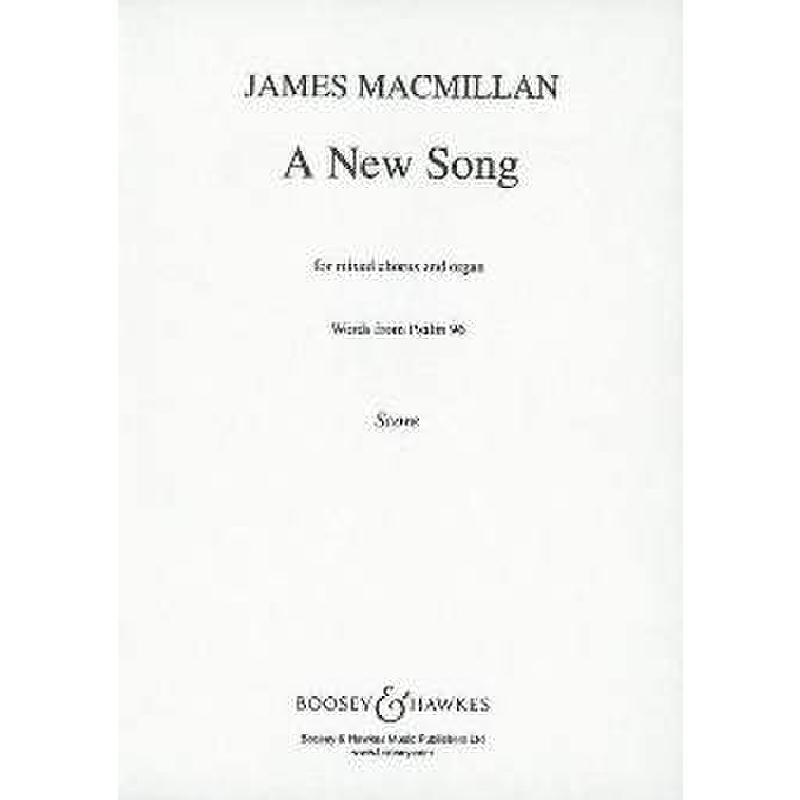 Titelbild für BH 5402115 - A NEW SONG - WORDS FROM PSALM 96