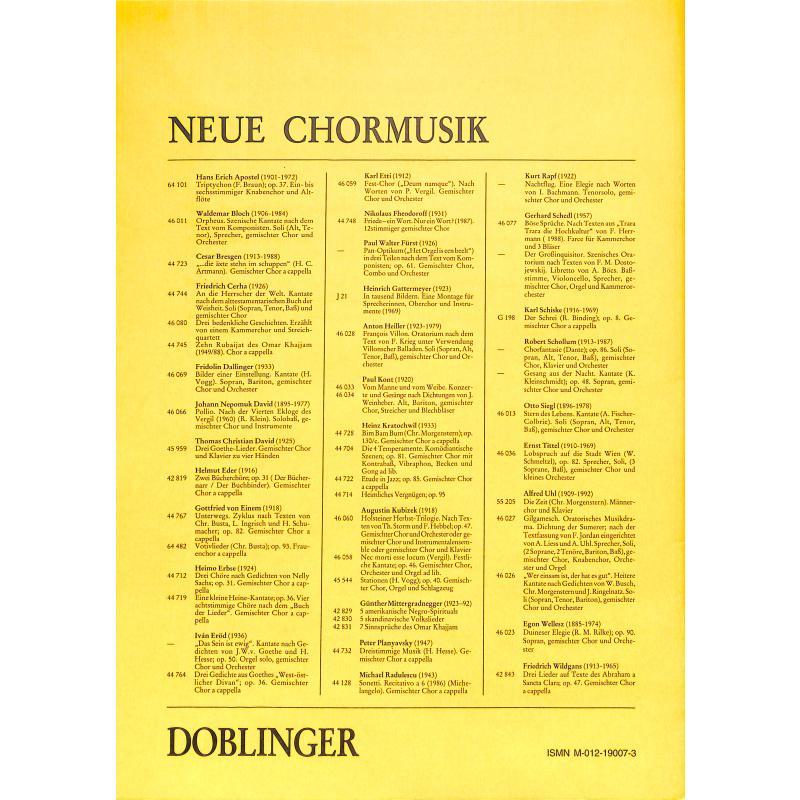 Notenbild für DO 62516 - WANNS SINGEN MI GFREIT - 8 LIEDER