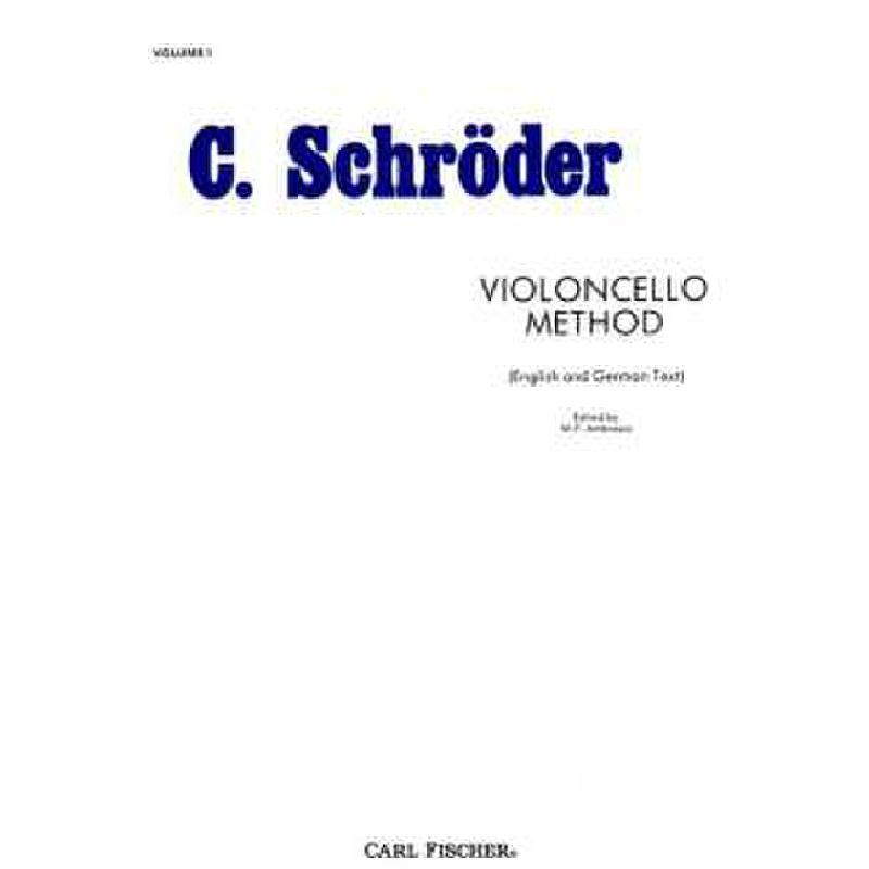 Titelbild für CF -O3315 - VIOLONCELLO METHOD 1