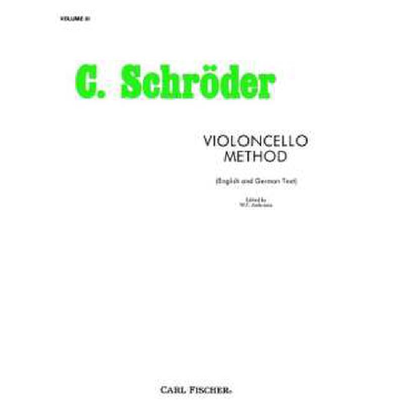 Titelbild für CF -O3484 - VIOLONCELLO METHOD 3