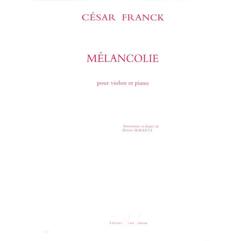 Titelbild für LEMOINE 27717 - MELANCOLIE