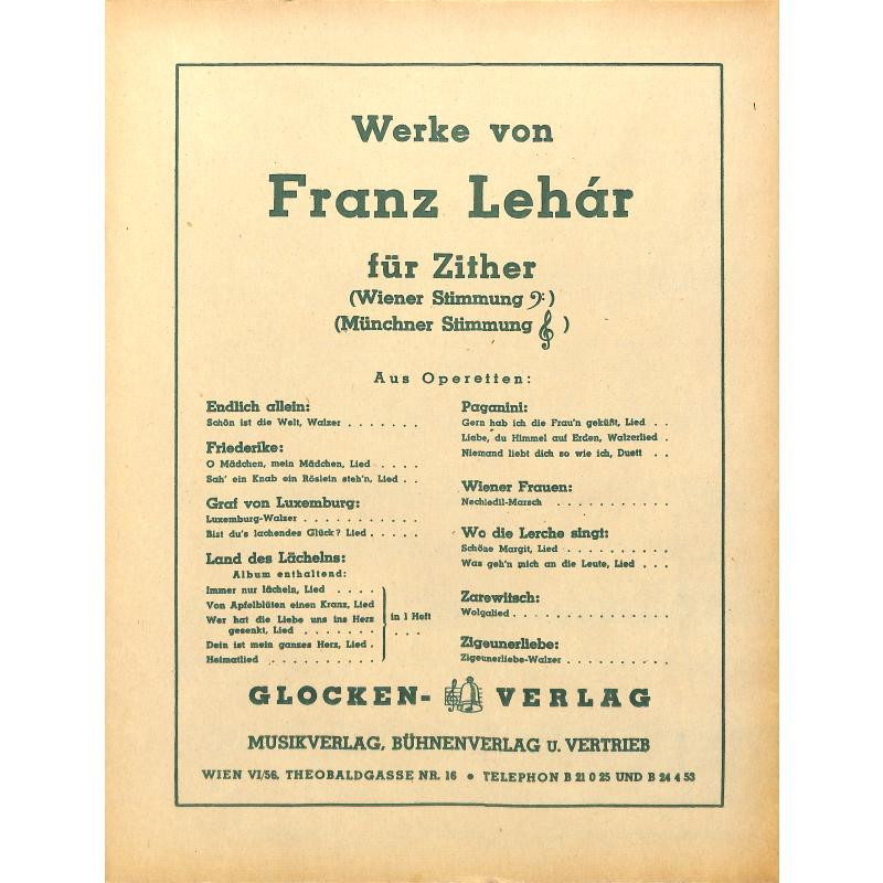 Notenbild für WEINB 679-20 - WIR SPIELEN LEHAR