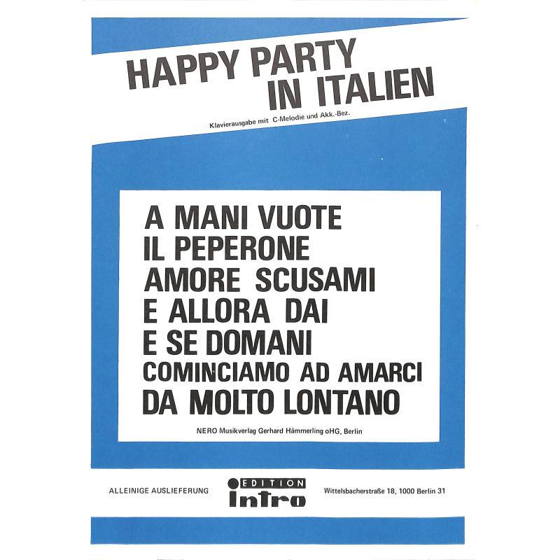 Titelbild für INTRO 1047911 - HAPPY PARTY IN ITALIEN