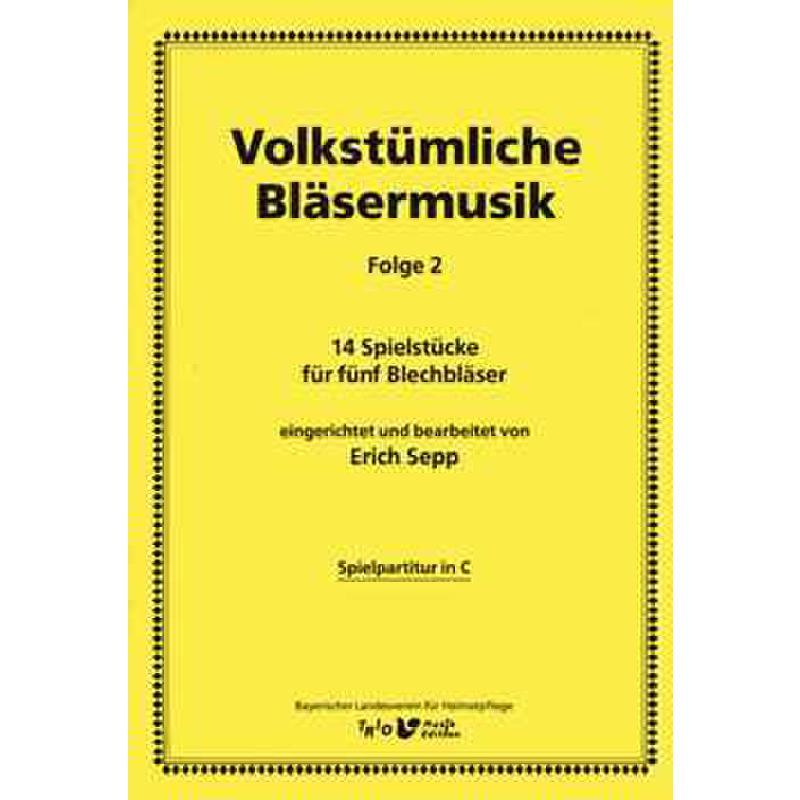 Titelbild für TRIO -BK128-1 - VOLKSTUEMLICHE BLAESERMUSIK 2