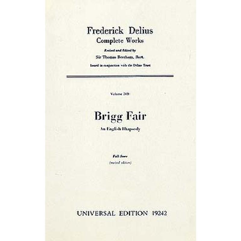 Titelbild für UE 19242 - BRIGG FAIR - AN ENGLISH RHAPSODIE