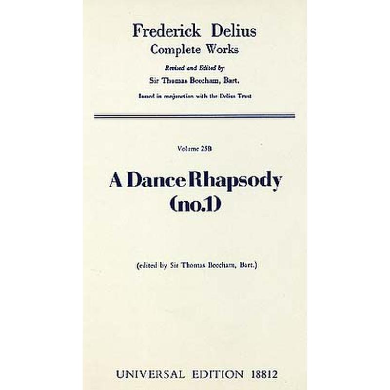 Titelbild für UE 18812 - A DANCE RHAPSODY 1