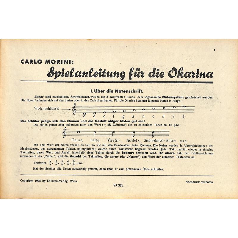 Titelbild für WEINB 321-18 - SPIELANLEITUNG FUER DIE OKARINA