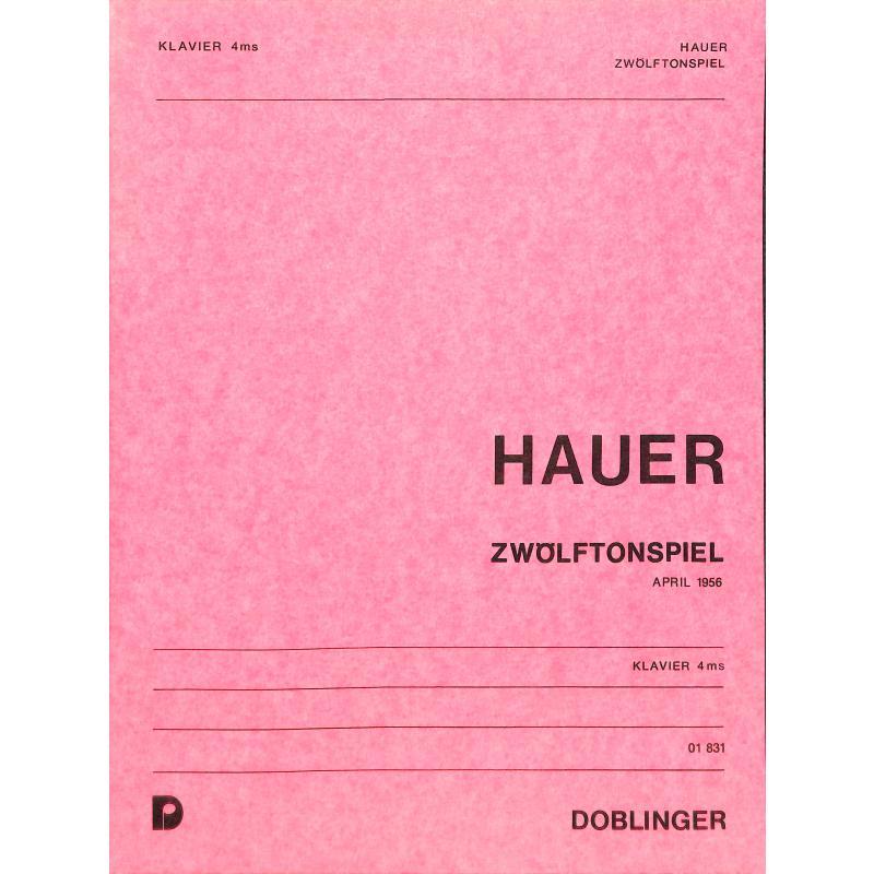 Titelbild für DO 01831 - ZWOELFTONSPIEL (1956)