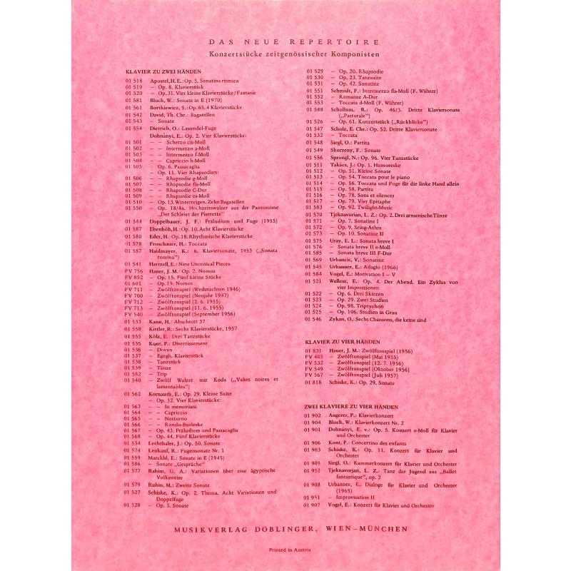 Notenbild für DO 01831 - ZWOELFTONSPIEL (1956)