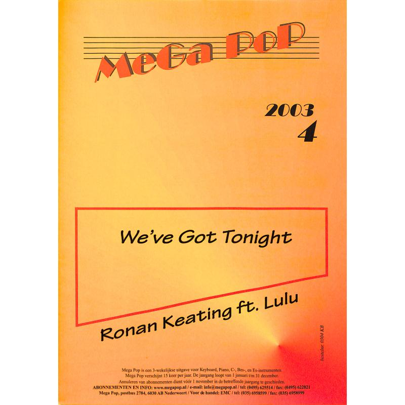 Titelbild für MDFK 0304-KB - We've got tonight