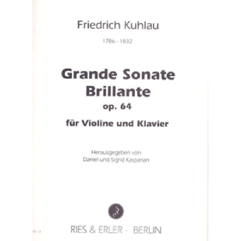 Titelbild für RE 00113 - GRANDE SONATE BRILLANTE OP 64