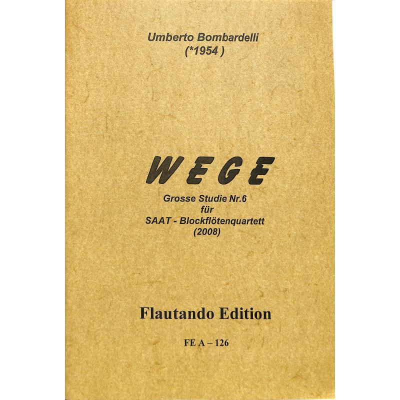 Titelbild für FE -A126 - WEGE - GROSSE STUDIE NR 6 (2008)