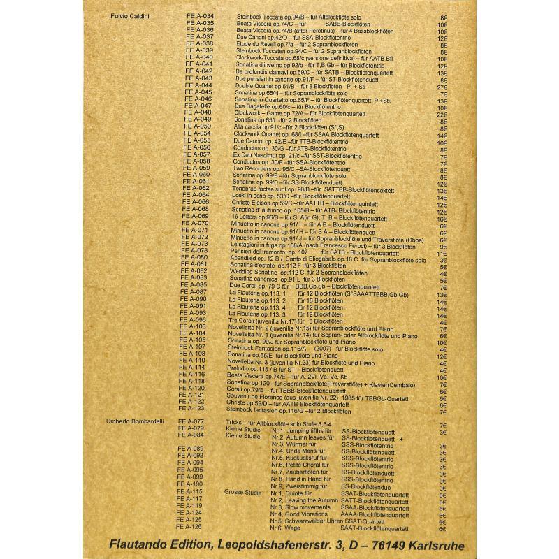 Notenbild für FE -A126 - WEGE - GROSSE STUDIE NR 6 (2008)