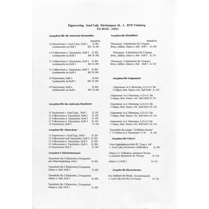 Notenbild für LAKY 1995-7 - WEIHNACHTSLIEDER ZUR GITARRE