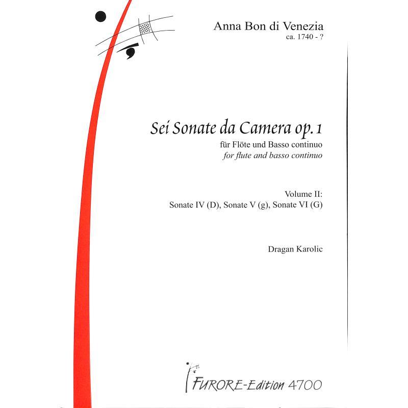 Titelbild für FUE 4700 - 6 SONATEN DA CAMERA OP 1 BD 2 (NR 4-6)