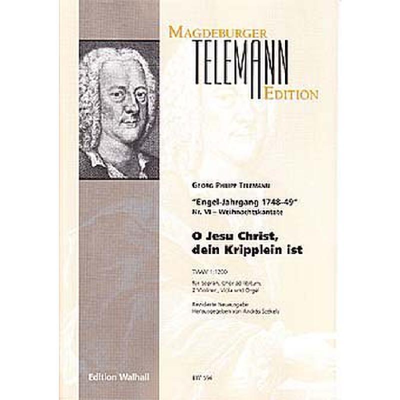 Titelbild für WALHALL 594 - O JESU CHRIST DEIN KRIPPLEIN IST TWV 1/1200