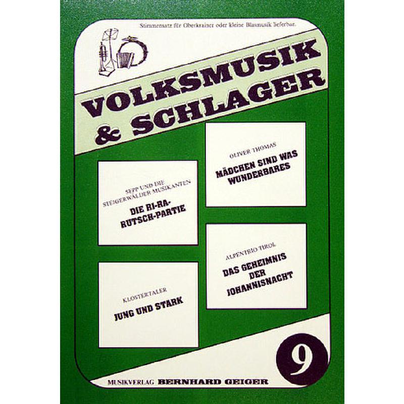 Titelbild für GEIGER -VS9 - VOLKSMUSIK + SCHLAGER 9