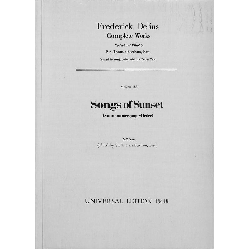 Titelbild für UE 18448 - SONGS OF SUNSET (SONNENUNTERGANGS LIEDER)