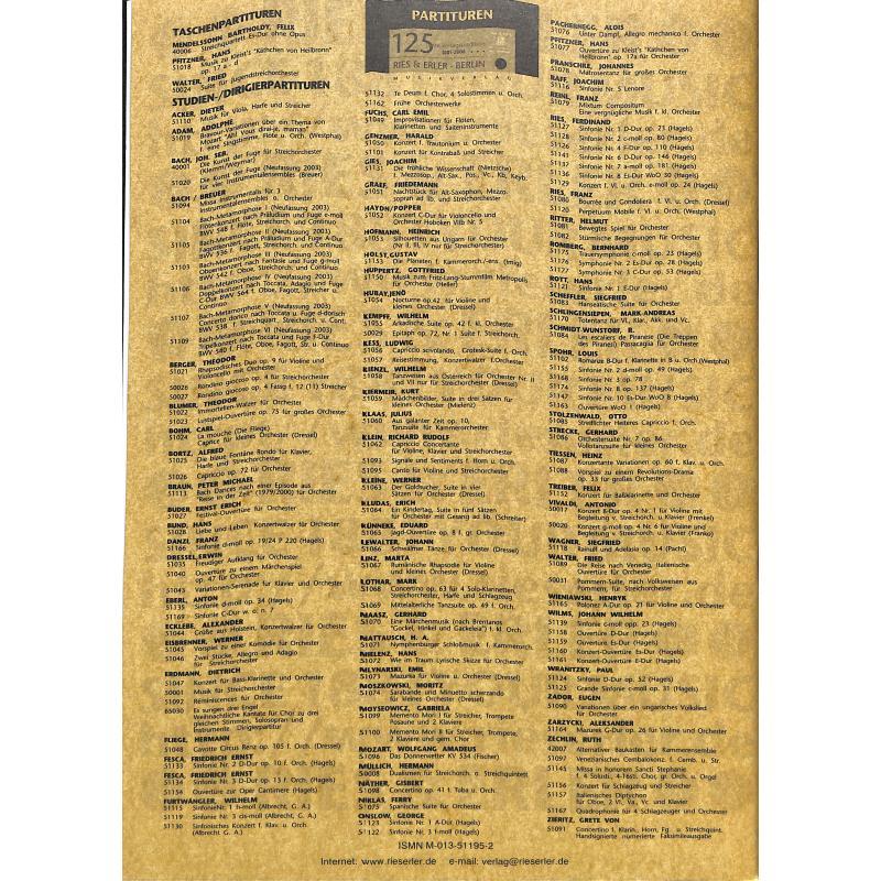 Notenbild für RE 51195 - OUVERTUERE ZU SCHILLERS TRAUERSPIEL DIE BRAUT VON MESSINA OP 162